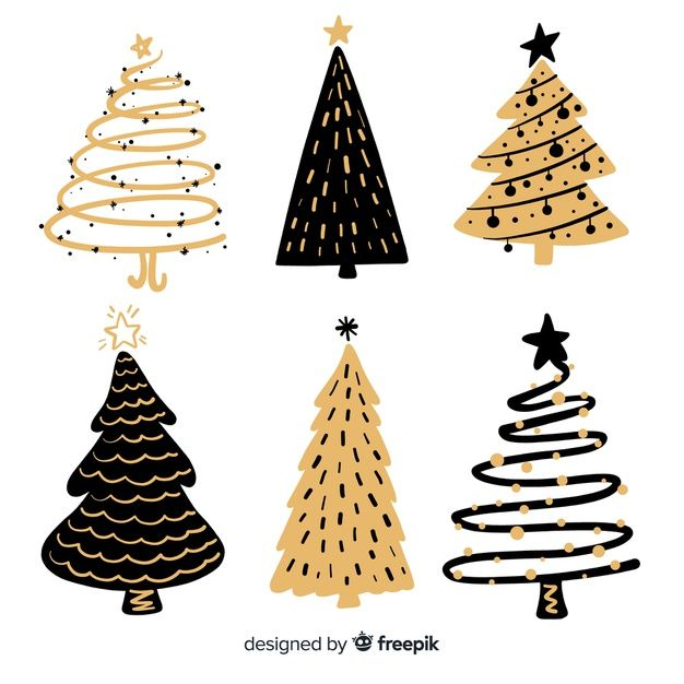 Download Hand Drawn Christmas Tree Collection For Free Christmas Tree Drawing Christmas Tree Collection Christmas Doodles