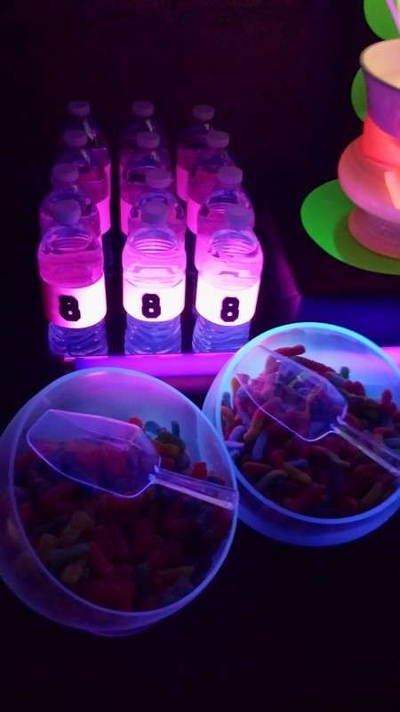 Neon Glow in the Dark Birthday Party Ideas Neon glow Birthday