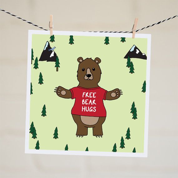 Free Bear Hugs Card Thinking Of You Card Anniversary Card - anniversary card free
