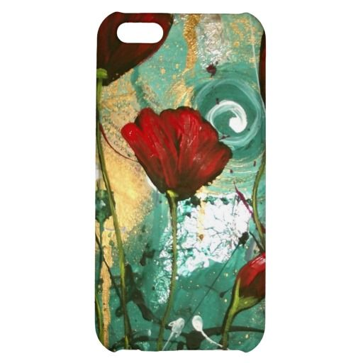 Red Poppies iPhone 5C Cover --- $33.95