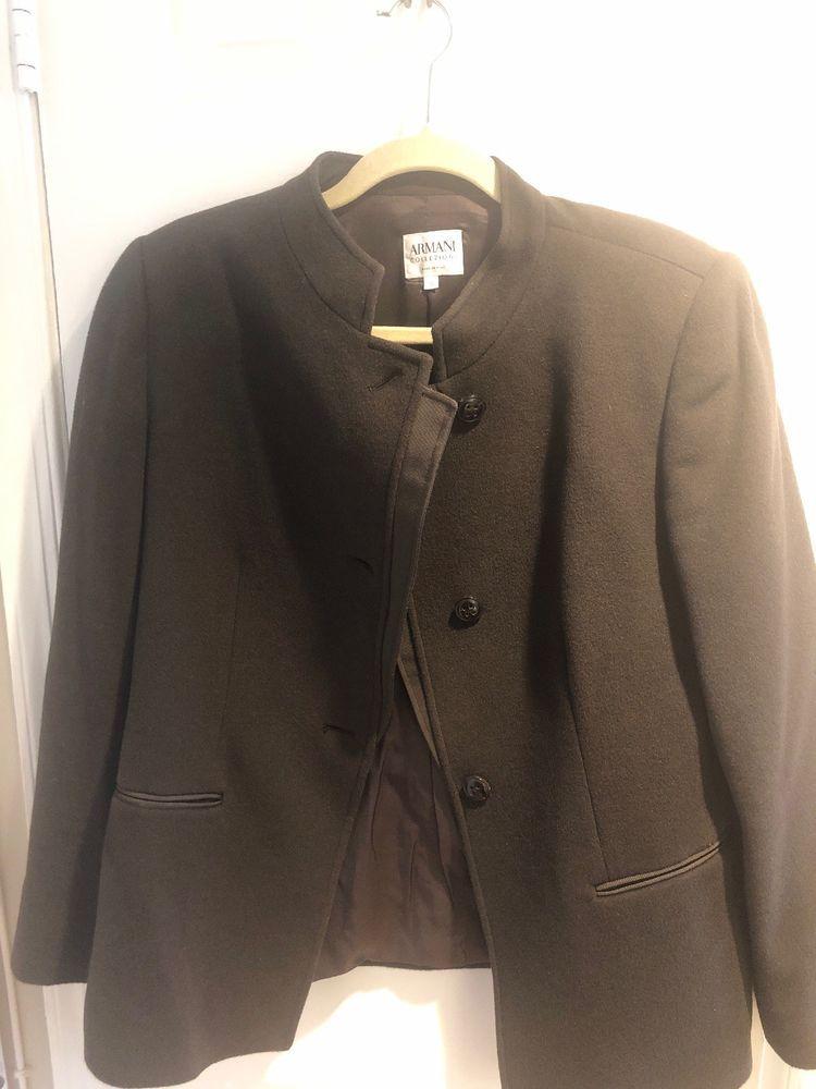 09e4831afddf Armani Collezioni Brown cashmere Women's Coat Jacket Size 12 Euro 48  #fashion #clothing #shoes #accessories #womensclothing #coatsjacketsvests  (ebay link)
