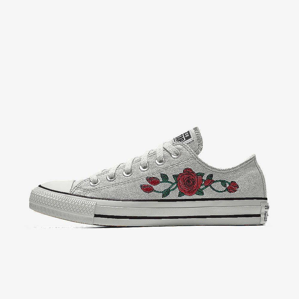 22c7be8f6435 Converse Custom Chuck Taylor All Star Rose Embroidery Low Top Shoe. Nike.com