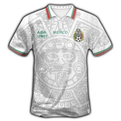 246ef3a14 Camiseta Selección Fútbol México 1998. Visitante.