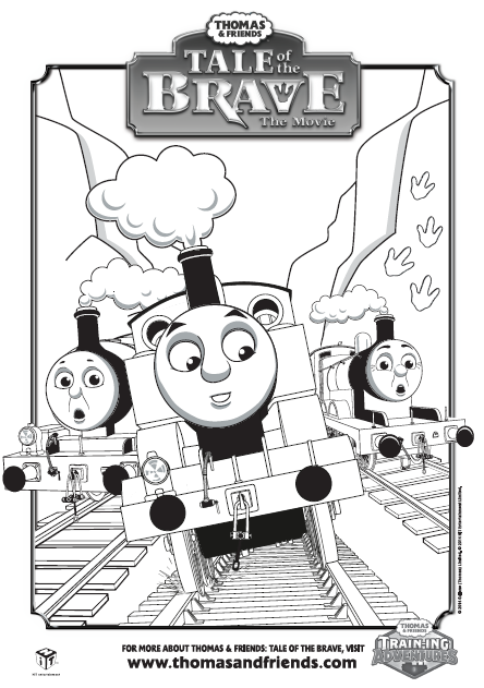 Thomas & Friends, Tale of the Brave, group colouring in picture ...