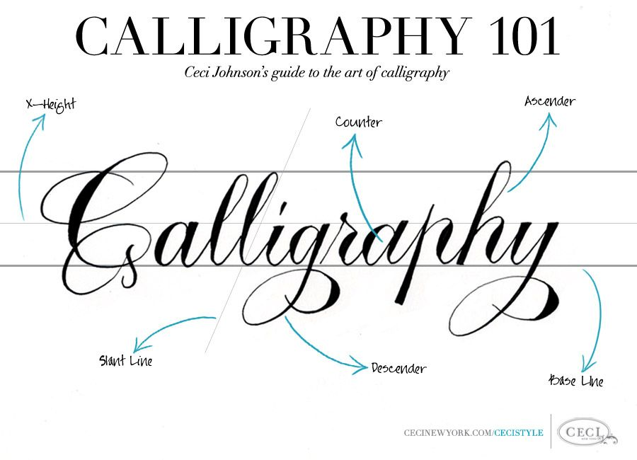 Calligraphy 101 ceci johnsons 39 guide to the art of Calligraphy basics