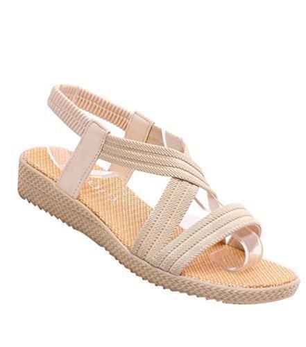 La Comoda Fashion Sandalias Planas Blanco EU 38 63gQrzSHD