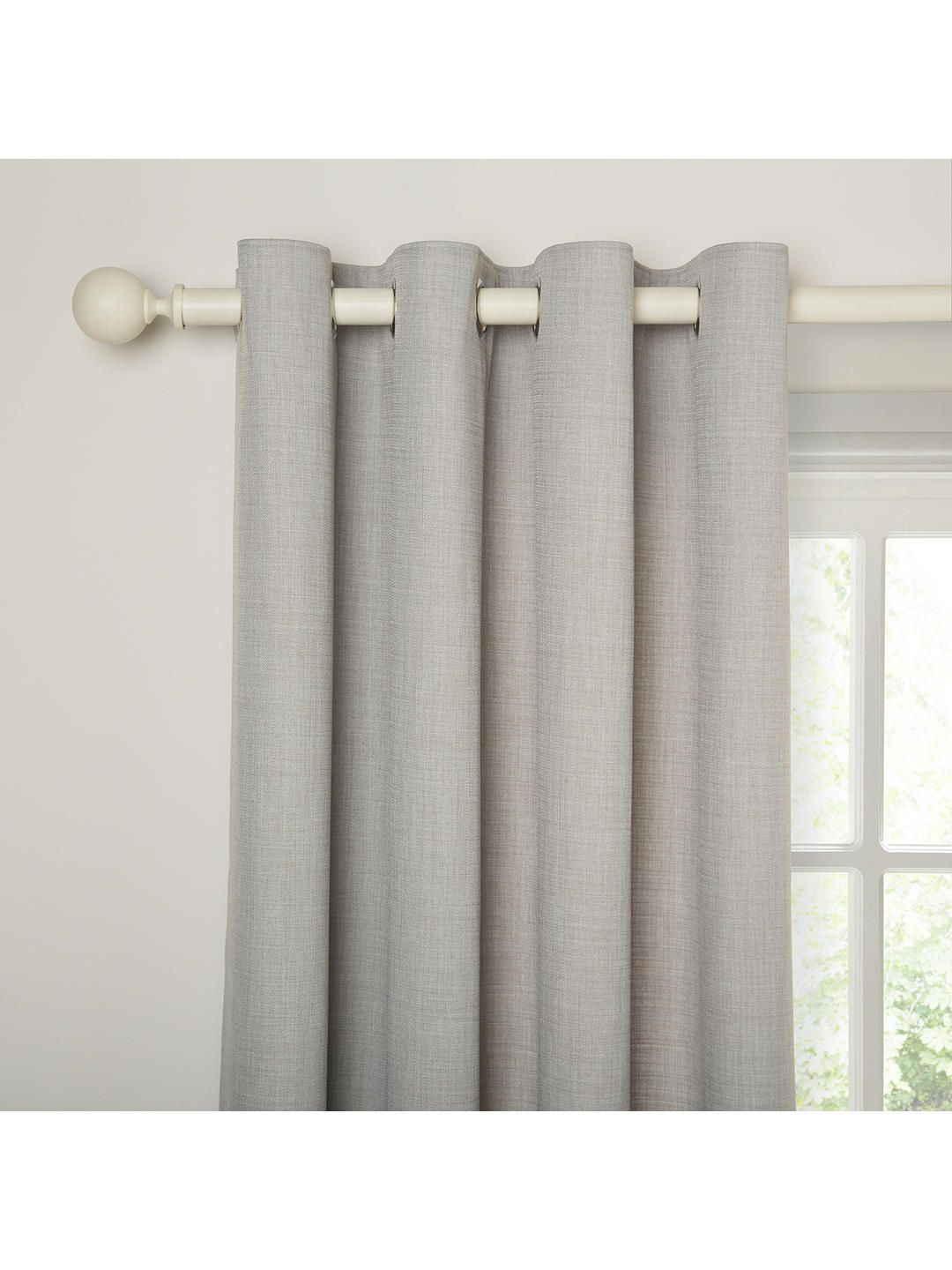 John Lewis Partners Barathea Pair Lined Eyelet Curtains Blue Grey In 2020 Curtains Panel Curtains Curtains Width
