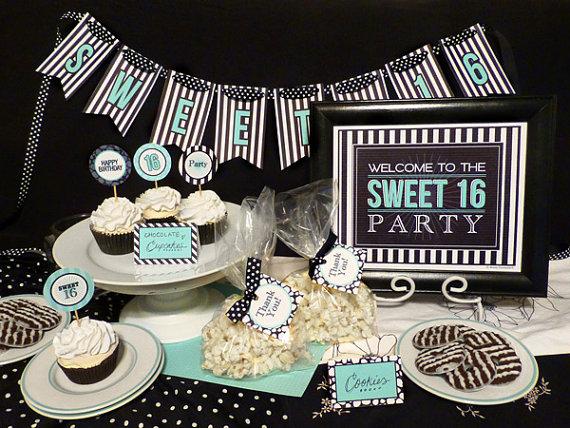 Black and White Sweet Sixteen