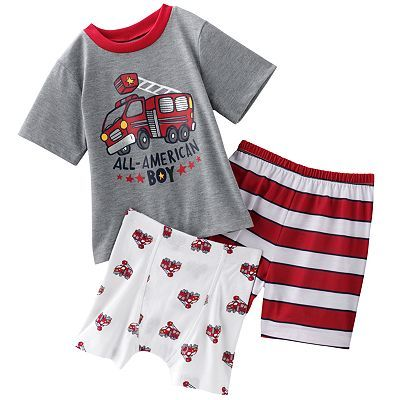 Jumping Beans Fire Truck Pajama Set Toddler Baby Boy Outfits Pajama Set Baby Boy Accessories
