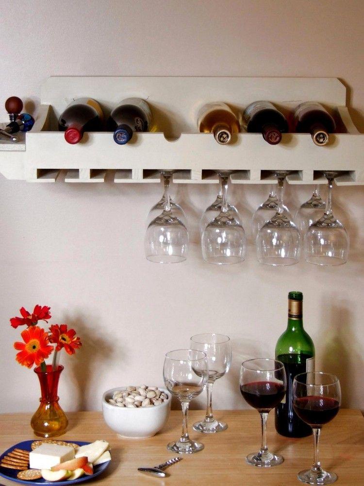 Flaschenregal selber bauen \u2013 Materialien, Anleitungen und kreative