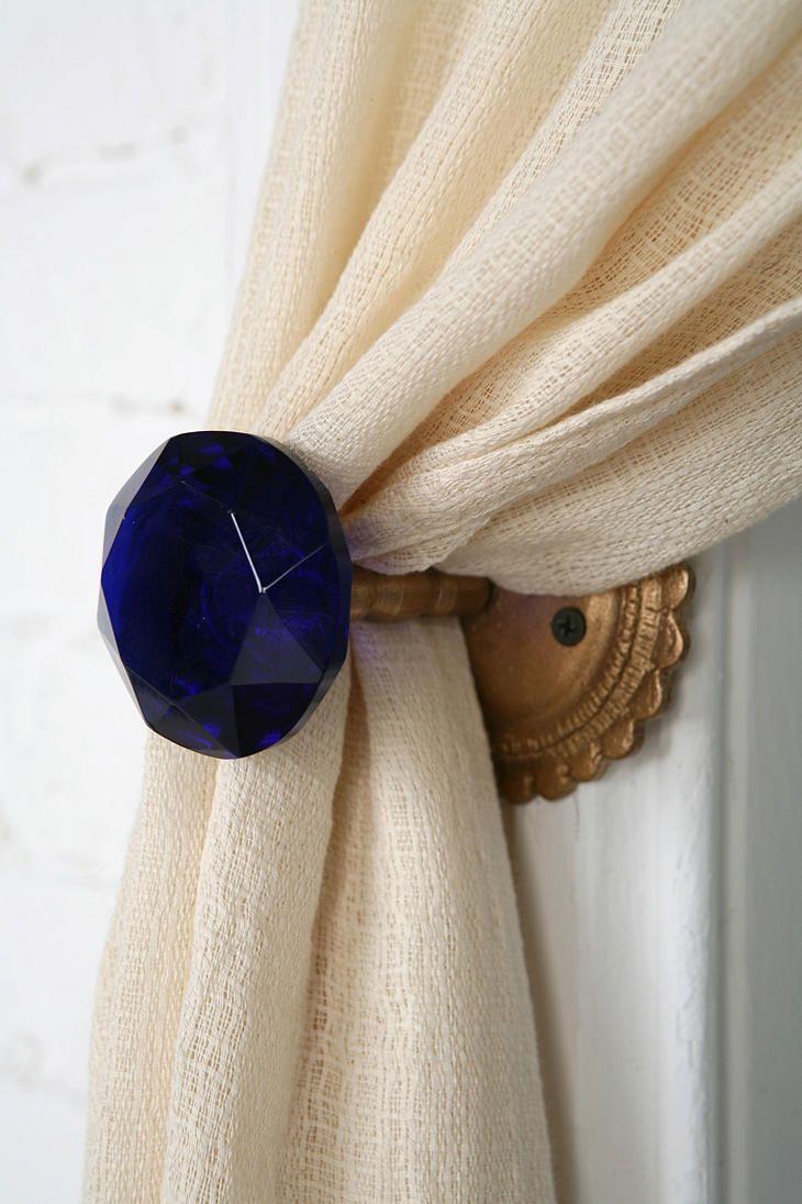 Door Knob Curtain Tie Back Interior Design Curtain Tie