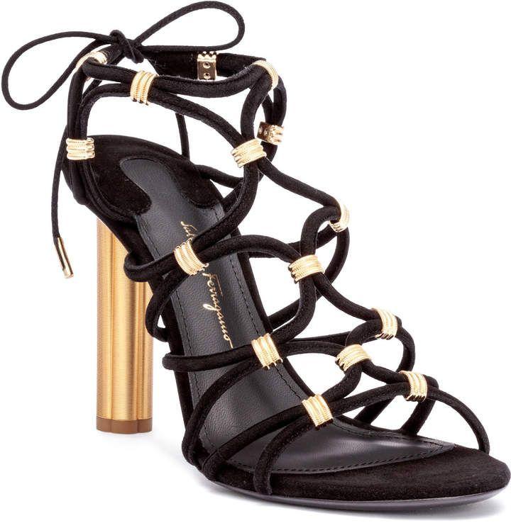 fde92504383 Salvatore Ferragamo Fiuggi 105 black suede sandals in 2019