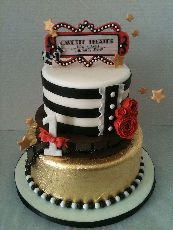 Excellent Hollywood Glam 1St Birthday Cake Happy Birthday Cakes Hollywood Funny Birthday Cards Online Elaedamsfinfo