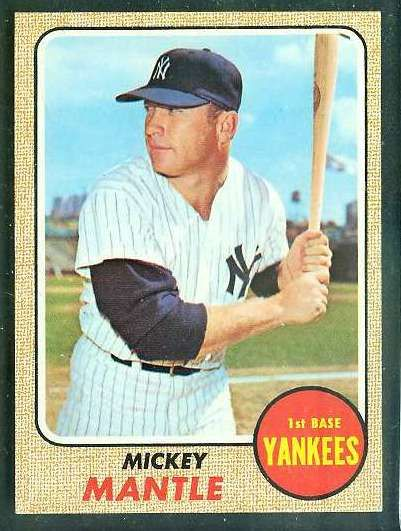 Baseball Cards Worth Money 1968 Topps 280 Mickey Mantle