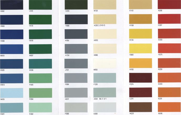 A Color Card Wall Panel Design Fall Color Palette Color Card