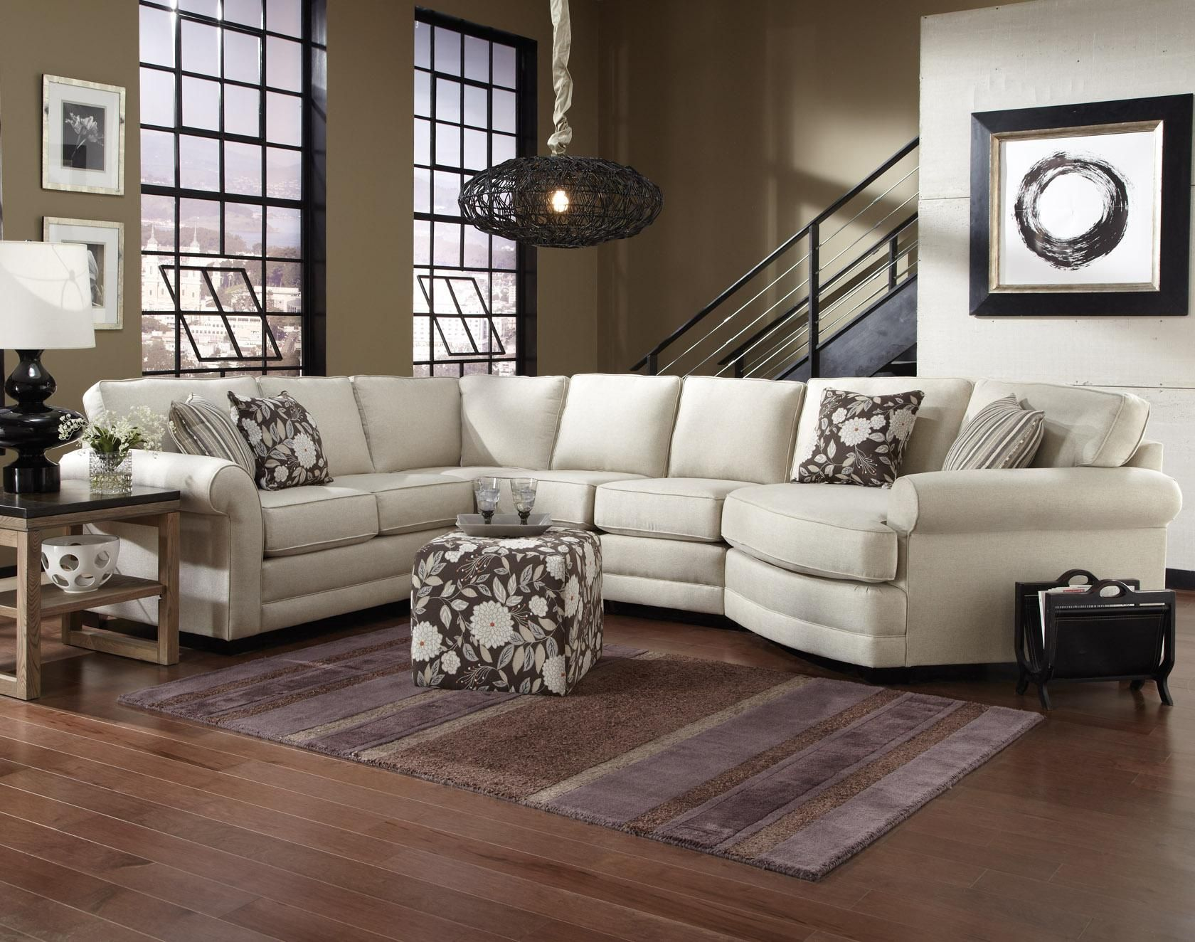 Brantley 5 Seat Sectional Sofa With Cuddler By England