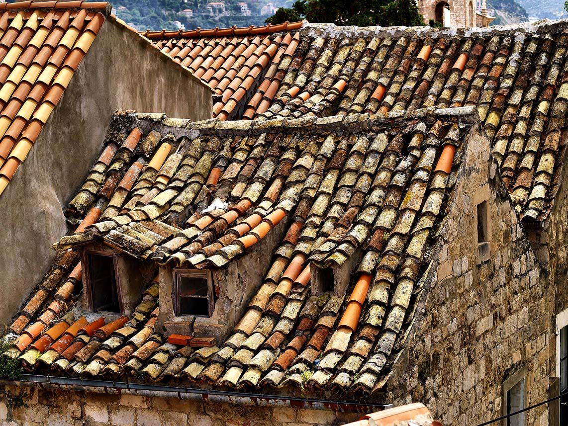 how to clean old clay roof tiles