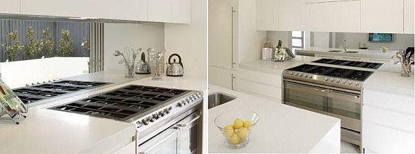 Top 20 diy kitchen backsplash ideas kitchen mirrors for Diy mirrored kitchen cabinets