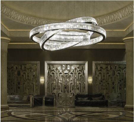 Private Villa Jeddah-Jewel Three Chandelier by Windfall