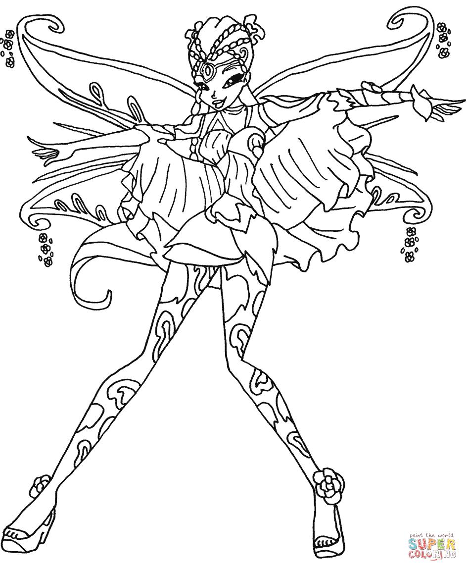 resultado de imagen para dibujos de winx club flora coloring pages