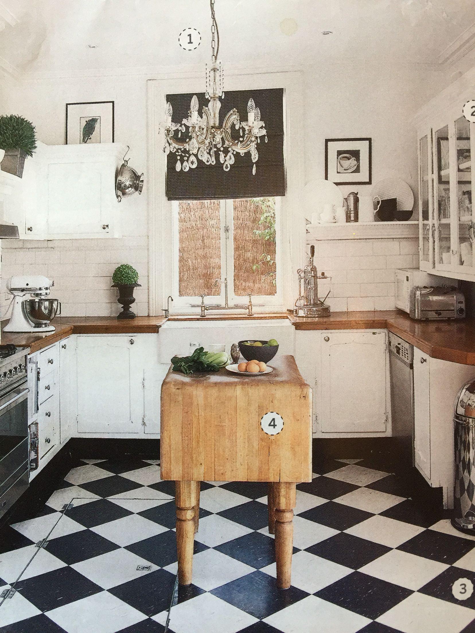 Rustic Kitchen Magazine Clipping From Home Beautiful White Kitchen Floor Kitchen Flooring Black White Kitchen
