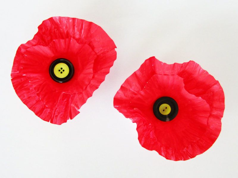 Muffin Liner Poppy Craft Remembrance Day Pinterest