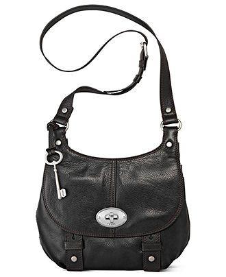 40791503480 Fossil Handbag, Maddox Leather Flap Crossbody - All Handbags - Handbags &  Accessories - Macy's
