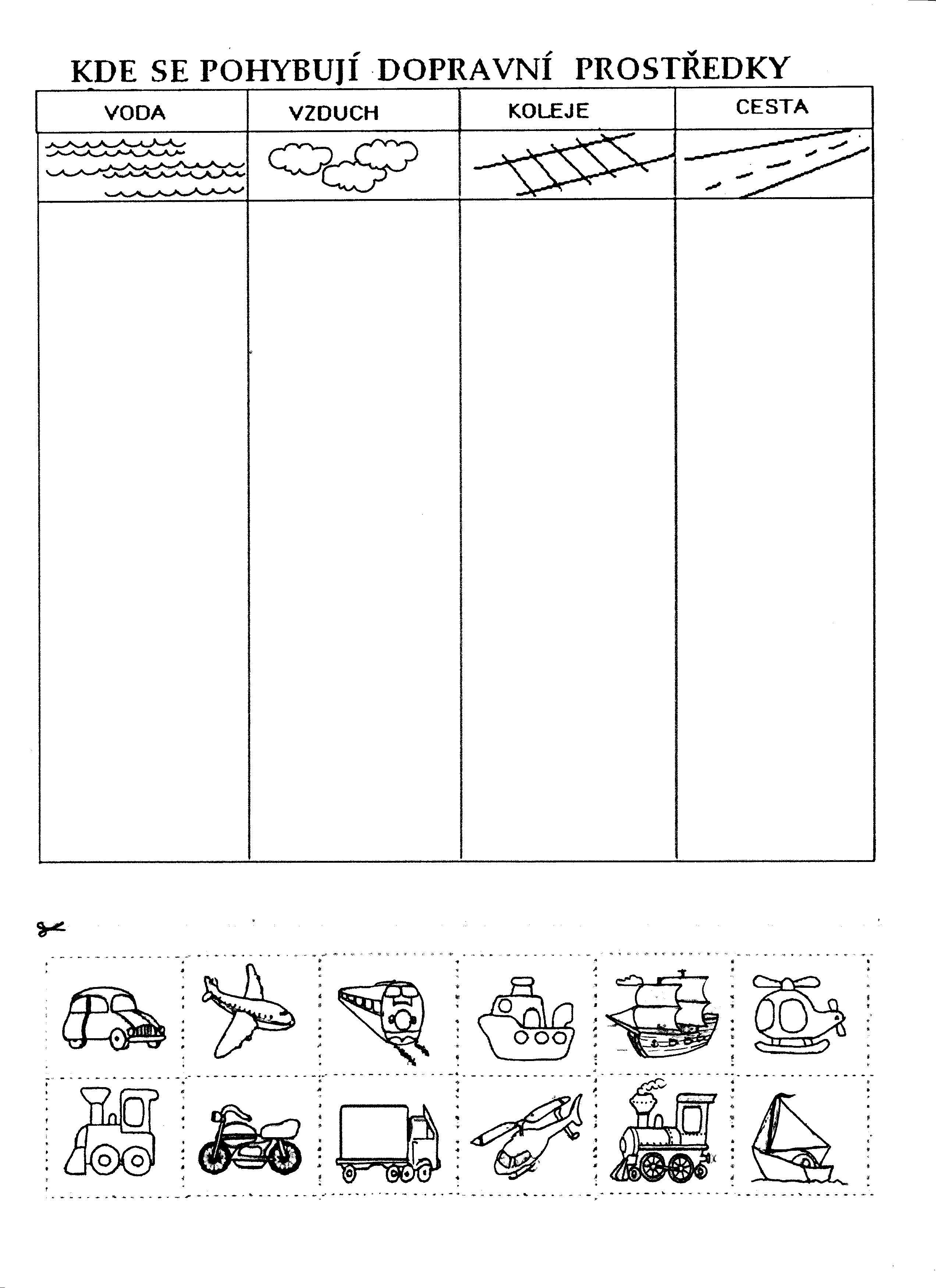 Dopravni Prostredky Teaching Pinterest Preschool Themes