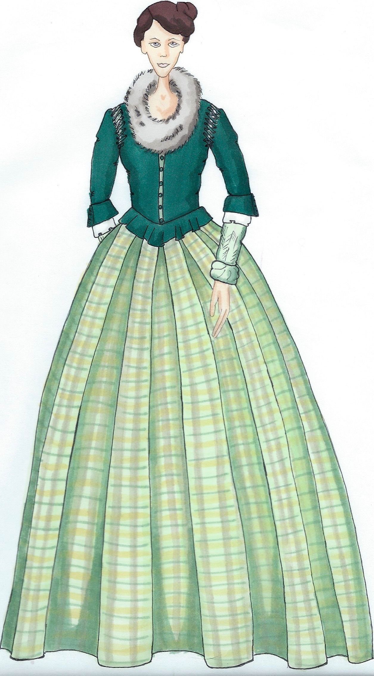 illustration of claire from outlander