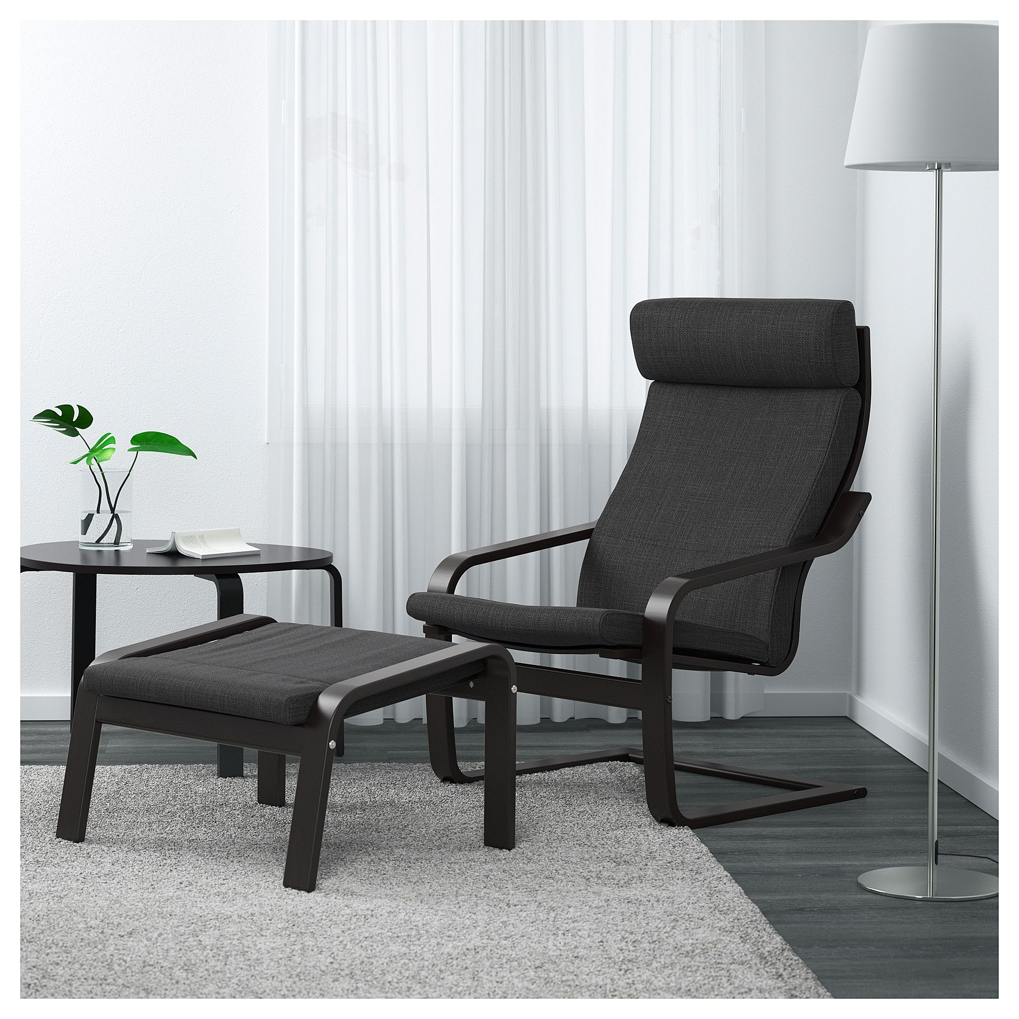 Po 196 Ng Armchair Black Brown Hillared Anthracite Gift