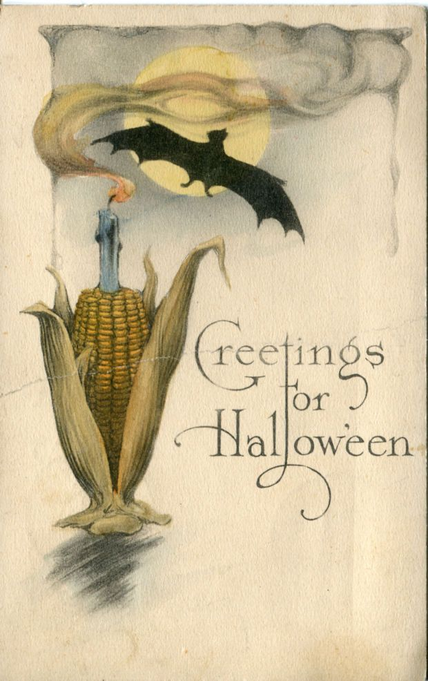 An undated #Halloween postcard. (Submitted by Edgar Simon of Owanka) #historic #old #vintage