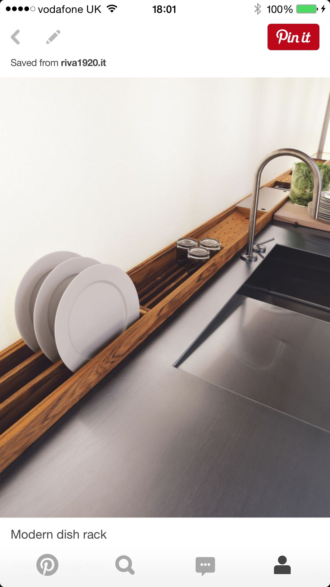 For kitchen sink bench - wood has an Asian feel