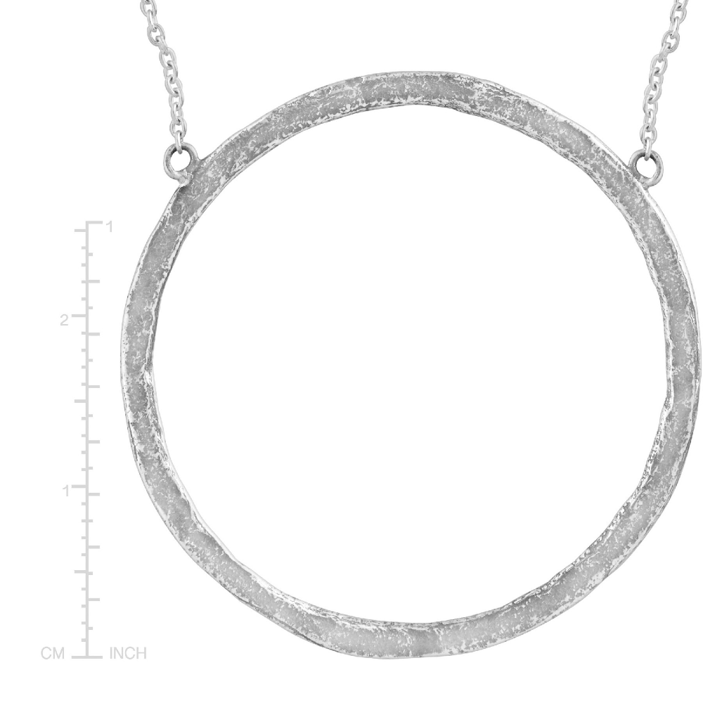 Silpada Duomo Open Circle Necklace In Hammered Sterling Silver Duomo Pendant Silpada Open Circle Necklace Hammered Sterling Silver Circle Necklace
