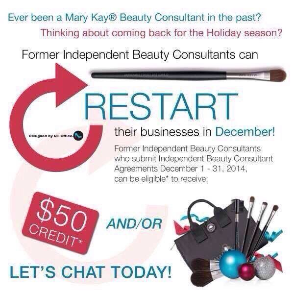 Calling All Former Mary Kay Consultants  Start Off Your New Year