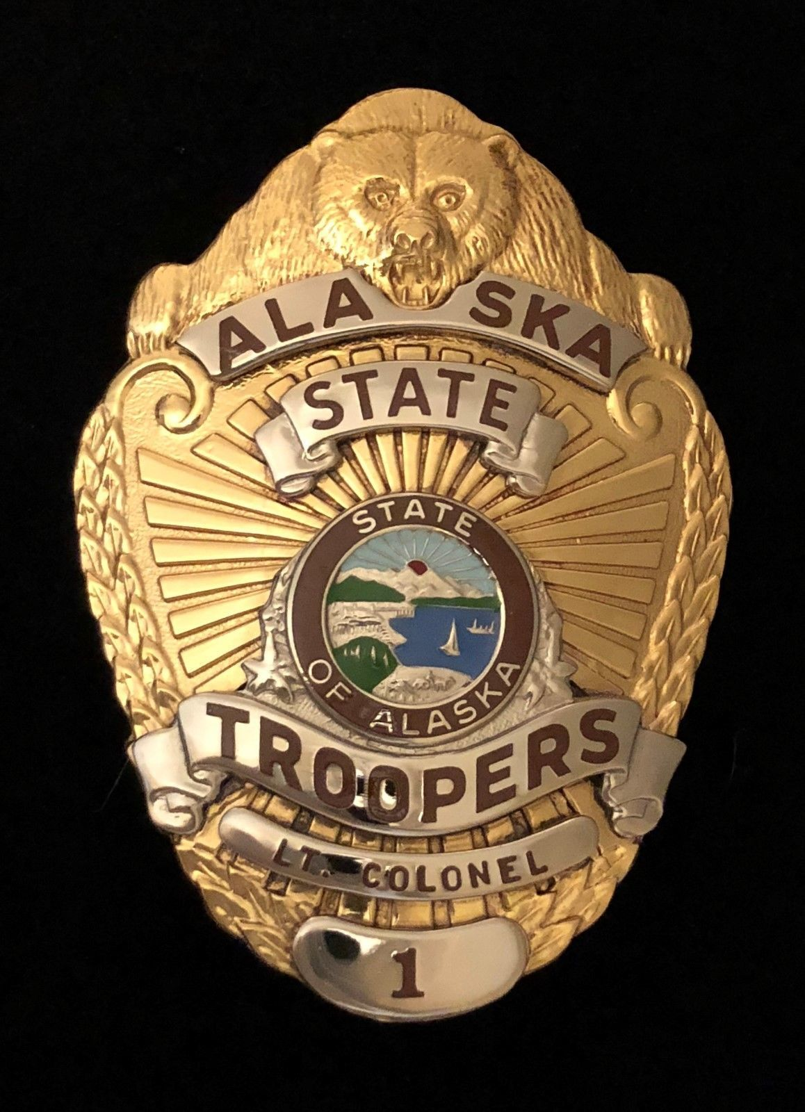 Lieutenant Colonel, Alaska States Troopers (Entenmann