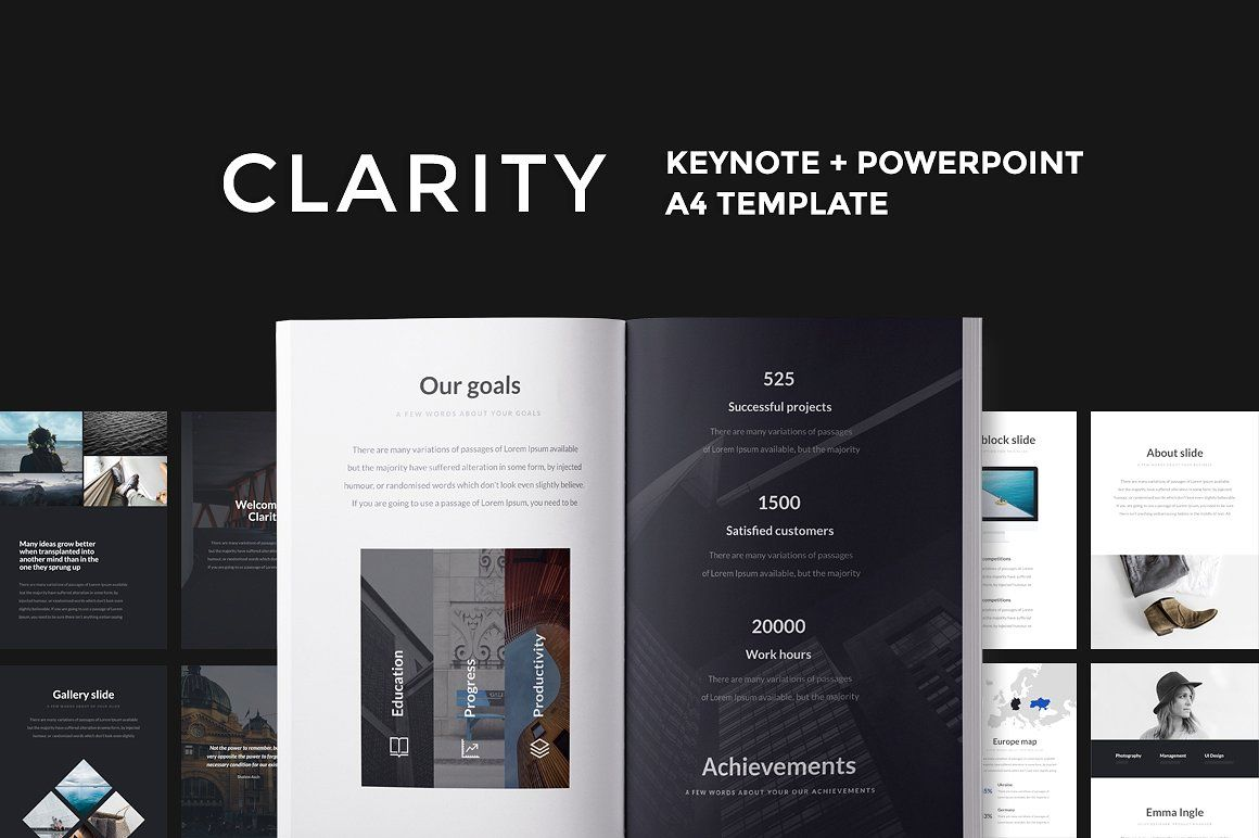 A4 | 18 Vertical Templates Bundle | A4, Template and Keynote
