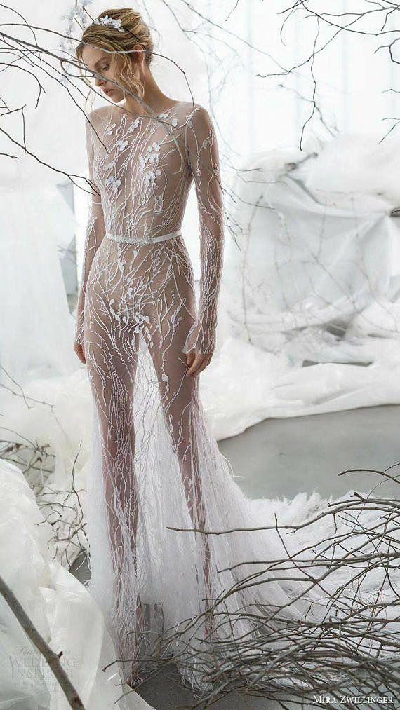 Exquisite aus weißen Illuson weichen Tüll Stickerei Spitzenstoff, Ast Blatt Brautkleid Spitzenstoff von Hof #whiteembroidery