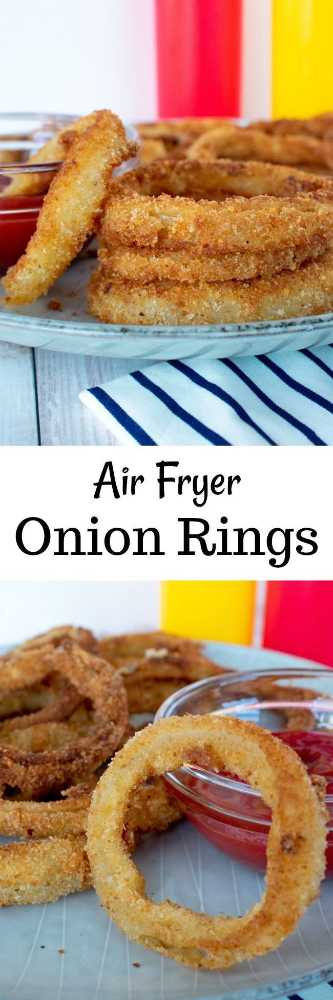 Air Fryer Onion Rings Recipe Food photography Onion