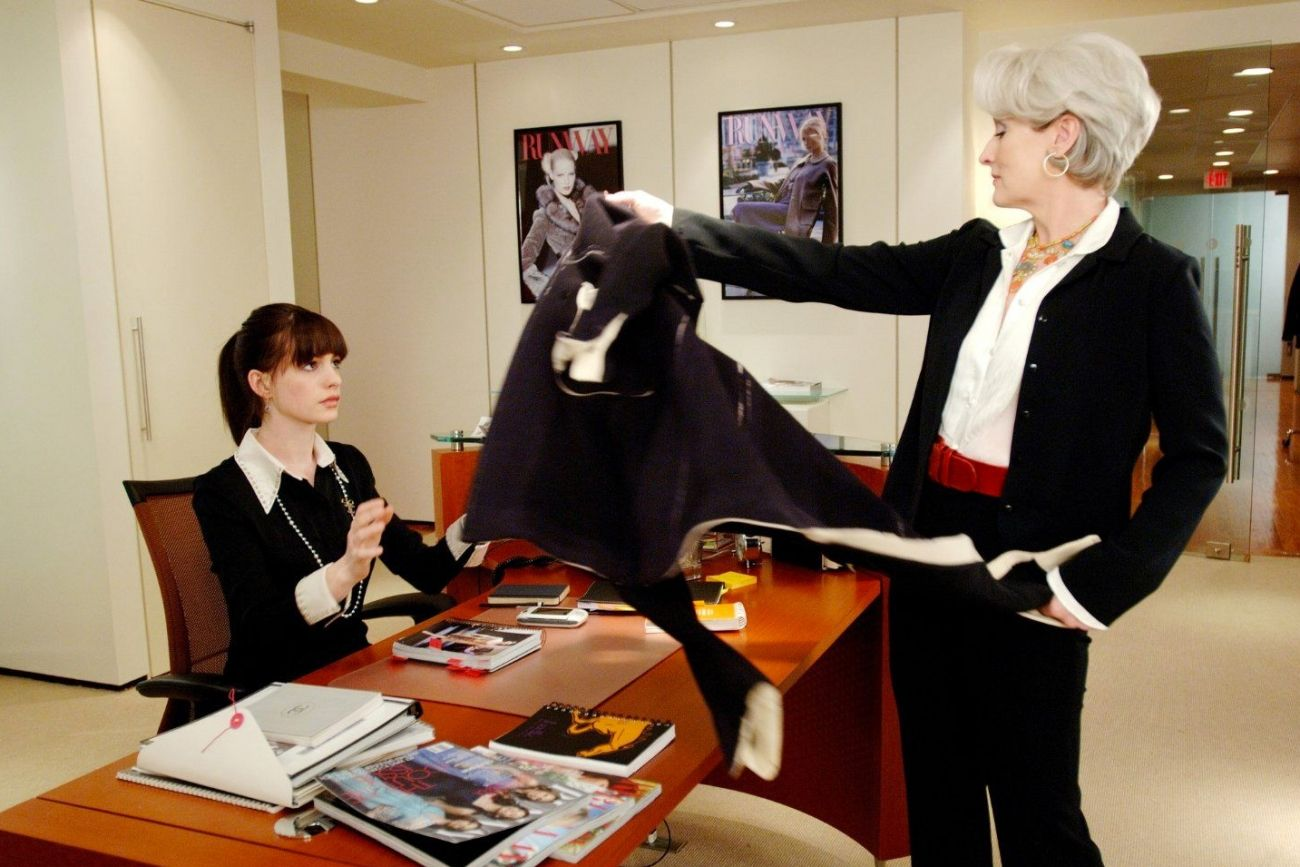 In The Hit 2006 Film The Devil Wears Prada, A Dowdy Job Applicant Stands  Before The Fearsome Editor Of An Iconic Style Magazine, Played By Meryl  Streep,