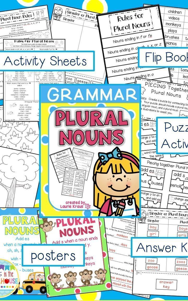 Plural Nouns - Engaging Activities for Regular and Irregular Nouns