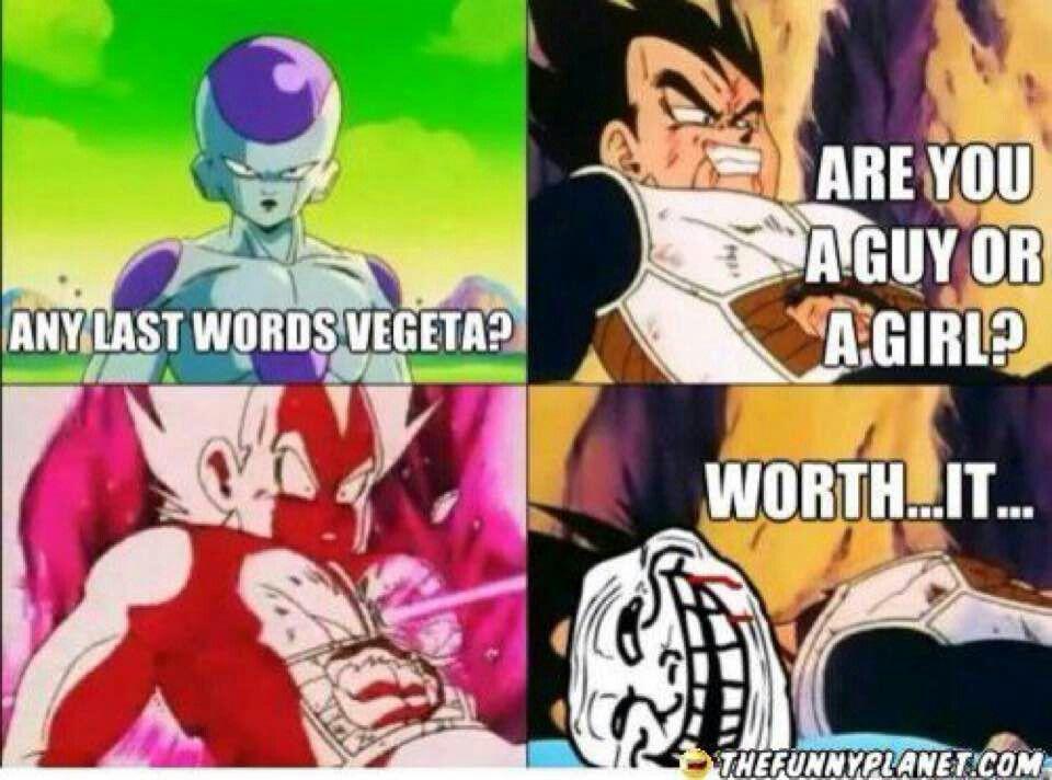 Funny Dragon Ball Z Abridged Memes : Guy or girl my nerd stuff dragon ball dbz and goku