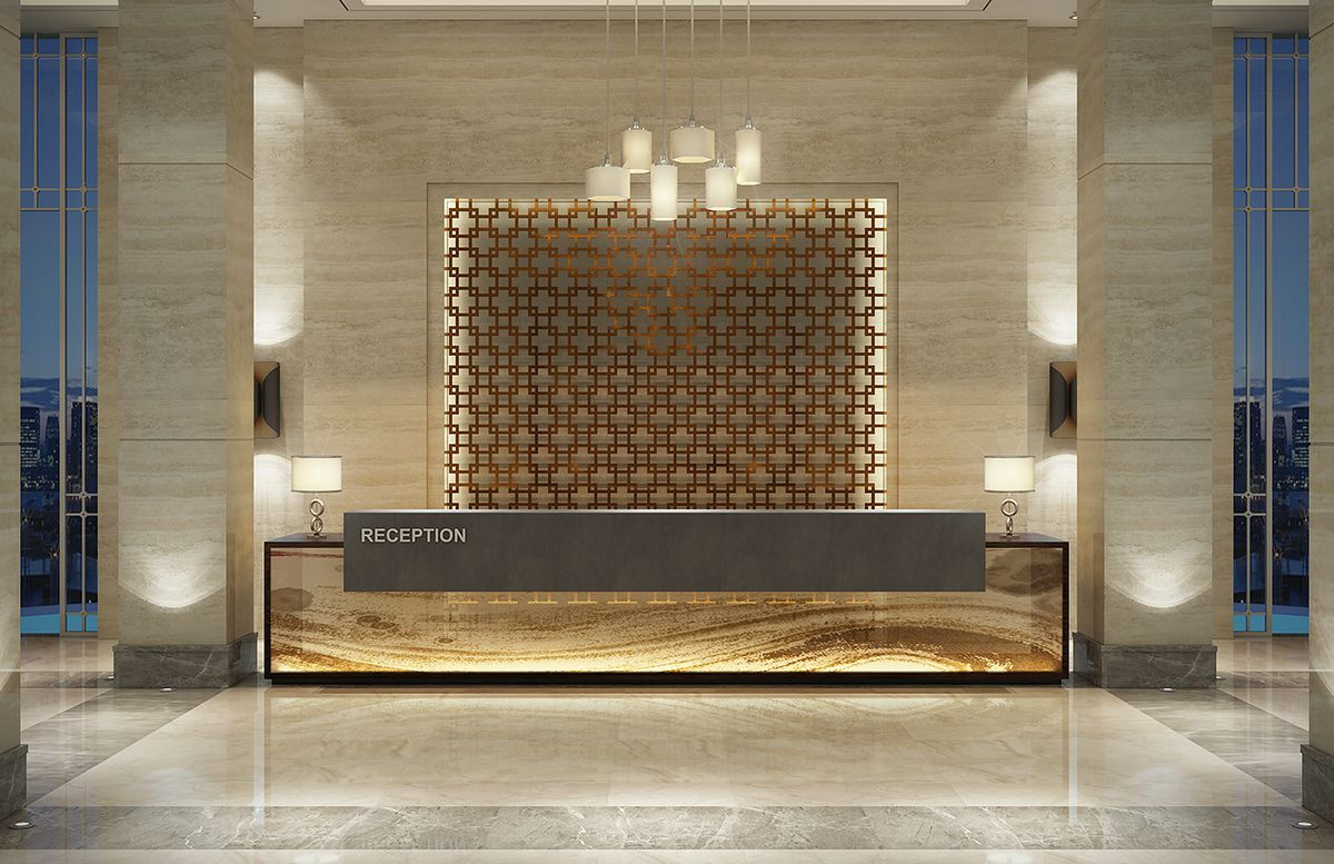 rixos hotel sharm el sheikh on behance reception counteroffice - Hotel Reception Desk Design