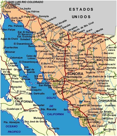 Mexico Map Mapa De Mexico San Felipe San Luis