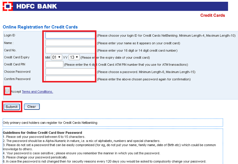 Hdfc Credit Card Login Using Hdfc Netbanking Hdfc Online Banking In 2020 Credit Card Transactions Credit Card Bank Credit Cards