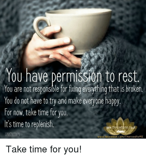 Permission to rest...
