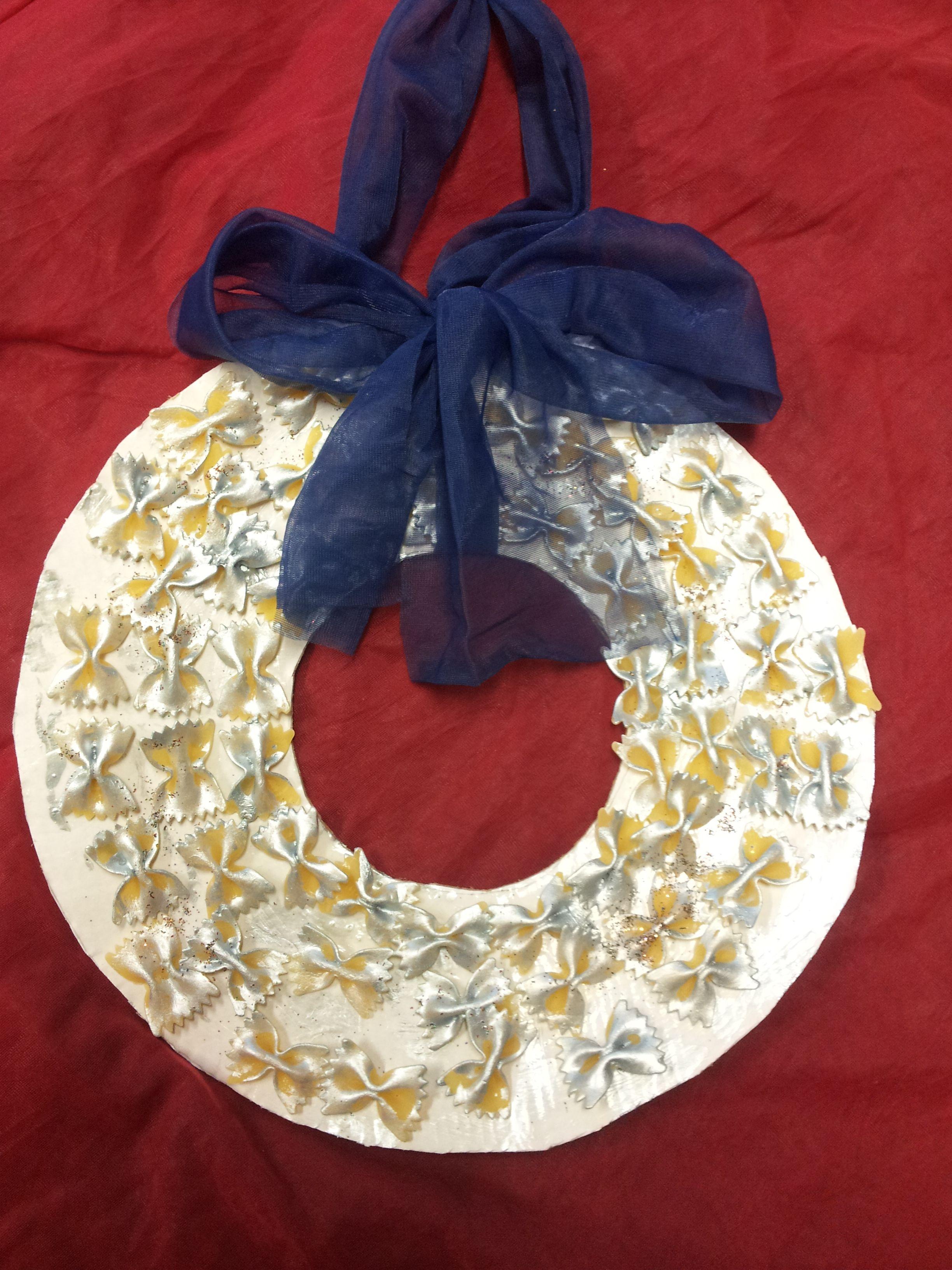 Photo of Ghirlanda natalizia di pasta farfalle chiarinafrancy.bl …