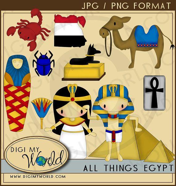 Egypt Egyptian pharoah cleopatra kawaii clipart images for ...