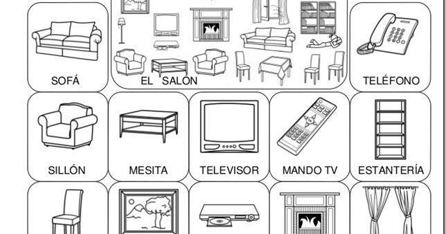 Fichas Para Colorear Cosas De La Casa Ingles Para Preescolar