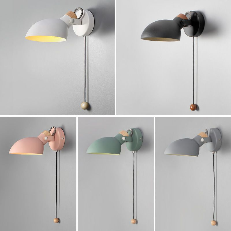 Nordic Indoor Led Angle Adjustable Wall Lamp Fixture With Switch Modern Bedside Room Reading Lights In 2020 Adjustable Wall Lamp Modern Wall Lamp Led Wall Lamp