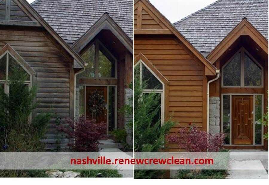 http://nashville.renewcrewclean.com/nashville-pressure-washing-service - Restoration of a beautiful wood siding home in Nashville. Pressure washing to clean the exterior follow by wood sealing and protection against the elements. This house is now looking great.  Free Estimates http://nashville.renewcrewclean.com  Renew Crew of Nashville 4825 Trousdale Dr. Suite 103 Nashville, TN 37220 (615) 454-2351